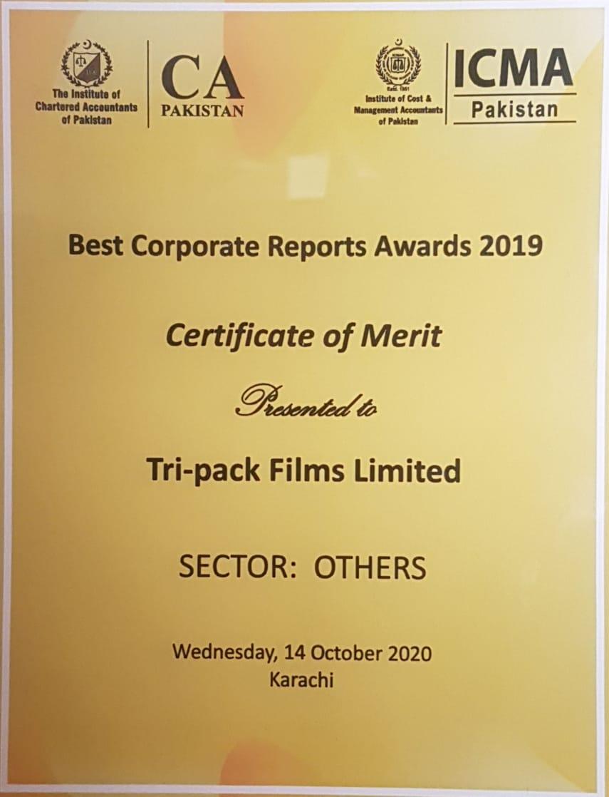 Best Corporate Reporting Award 2019