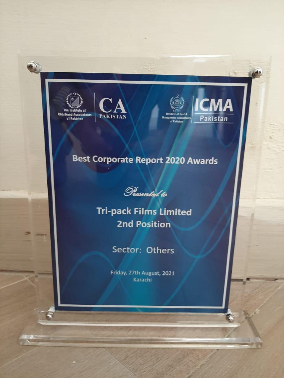 Best Corporate Reporting Award 2020