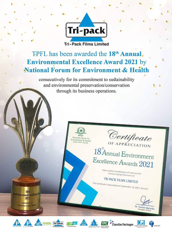 18th Annual Environmental Excellence Award 2021